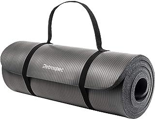 """Retrospec Solana Yoga Mat 1"""" w/Nylon Strap for Men & Women - Non Slip Exercise Mat for Yoga, Pilates, Stretching, Floor & ..."""