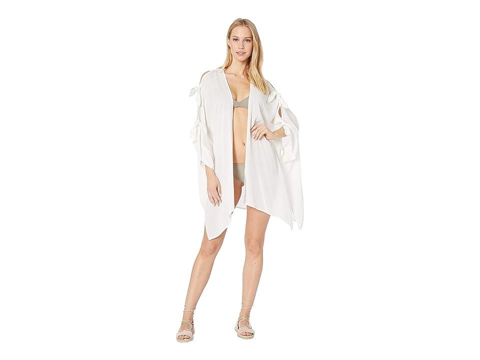 Echo Design Tie Shoulder Cardigan (White) Women