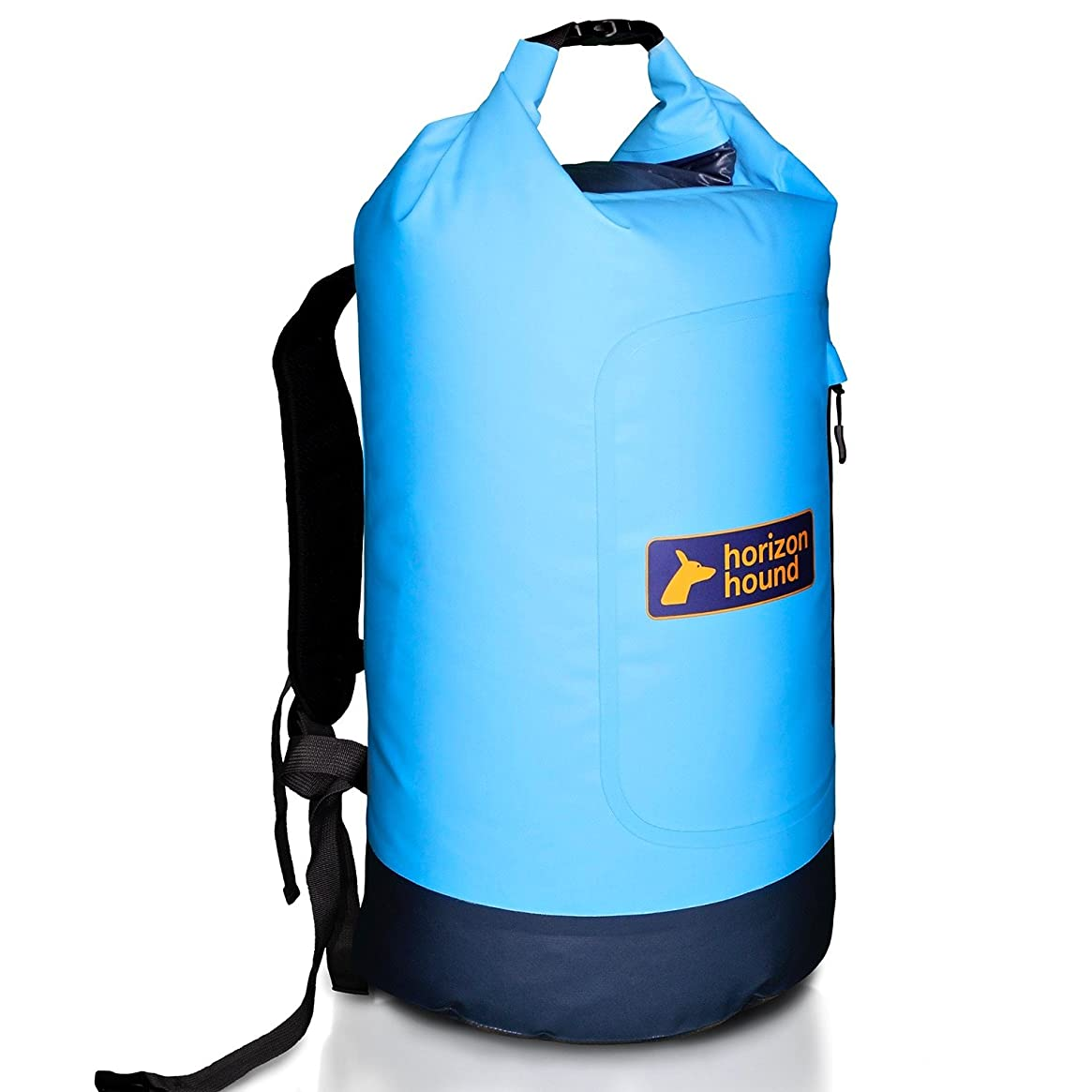 28 LITRE ALL WEATHER DRY BAG - Premium Waterproof Back Pack with padded shoulder straps and two Zipped Pockets. Perfect Roll Top Dry Bag for the Beach, Camping, Fishing, Kayaking or Swimming.