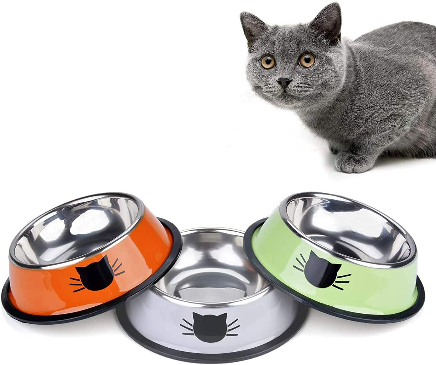 Kalimdor Cat Bowl Pet Steel Food trust Water 2021 new Stainless