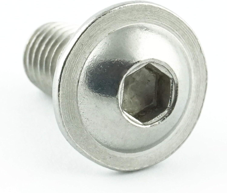 Gewindeschrauben Eisenwaren2000 Edelstahl A2 V2A rostfrei 20 St/ück M8 x 35 mm Linsenkopfschrauben mit Innensechskant und Flansch - ISO 7380 Linsenkopf Schrauben mit Flachkopf und Bund