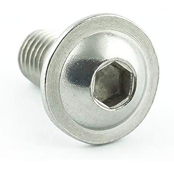 DERING Linsenkopfschrauben M8 X 30//30 mit Innensechskant ISO 7380 Edelstahl A2 | Flachkopfschrauben rostfrei 20 St/ück