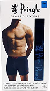 Pringle Classic Boxer Shorts with Lycra 4 Pack (Large 36 -38 inches)- Black