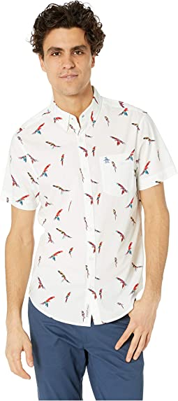 028499c18ae62 Original Penguin. Short Sleeve Zigzag Print Shirt.  79.00. Bright White