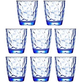 Amazon Com 14 Ounce Acrylic Glasses Plastic Tumbler Set Of 6 Multicolor Hammered Style Dishwasher Safe Bpa Free Tumblers Water Glasses