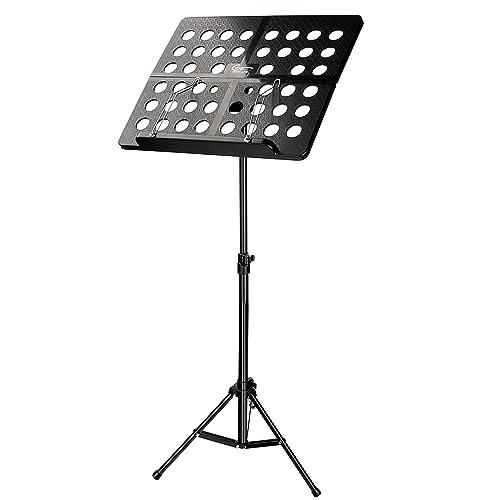 Atril música, Hricane Atril de Orquesta con Llevar Bolsa, Soporte para Partituras Plegable para