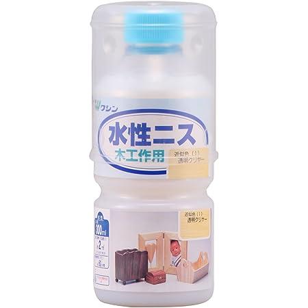 和信ペイント 水性ニス 屋内木工作品に最適 速乾・使いやすく安全 透明クリヤー 300ml
