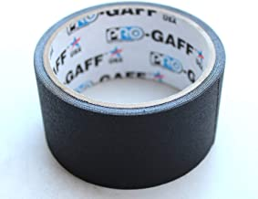 Pro Gaff / Gaffers Tape .5, 1, 2, 3, & 4 Inch Widths X Variable Lengths, 2 Inch, Black