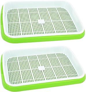 MOEGEN Bandejas de Semillas germinadas, 2 Piezas semilleros germinacion Hidropónica Bandeja de para la Oficina en casa jardín