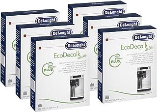 DELONGHI EcoDecalk Lot de 6 mini détartrants (2 x 100 ml par paquet)