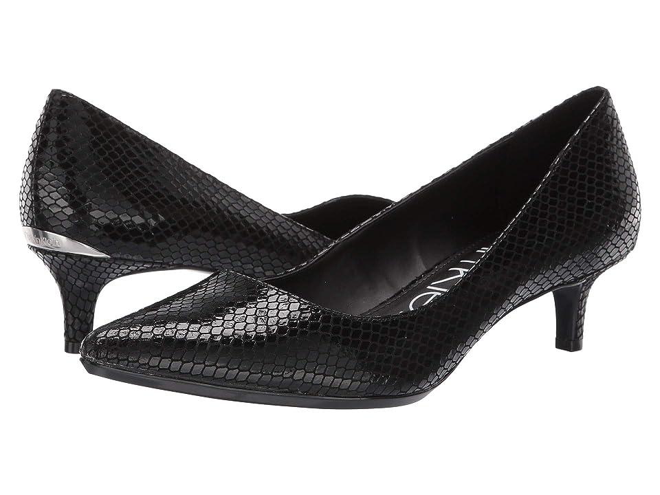 Calvin Klein Gabrianna Pump (Black Snake Print) Women