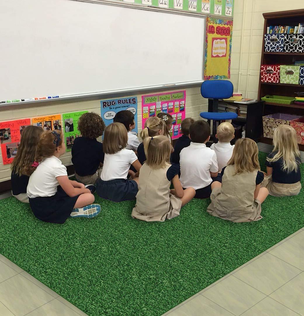 3'x12' - Shamrock Green ~ Long-awaited Kids Area Crazy Spasm price Carpet Home School R