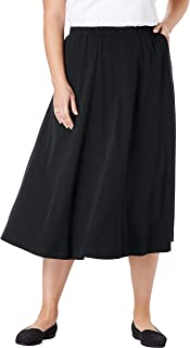 Women's Plus Size 7-Day Knit A-Line Skirt