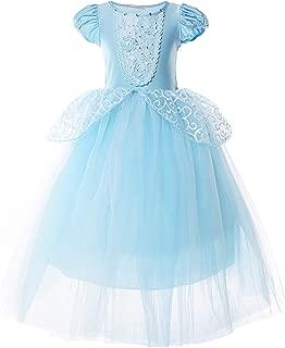 Girls Princess Costume Puff Sleeve Fancy Birthday Party Dress up