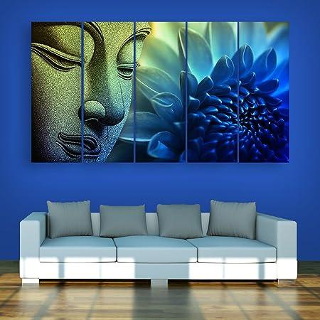 Inephos Vinyl Religious Painting, Blue, Buddha, Standard