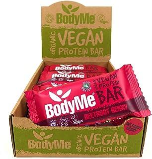 BodyMe Organic Vegan Protein Bar | Raw Beetroot Berry | 12 x 60g Vegan Protein Snack Bars | Gluten Free | 16g Complete Pro...
