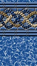 South Beach Pool Liner Above Ground Uni-Bead 15 Ft. x 26 Ft. Oval x 52 In. H - GLI Aqualiner Tile Pattern - 25 ML Gauge - 20 Year Warranty - Made USA
