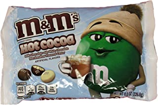 Mars M&M's Hot Cocoa Candies - Milk Chocolate with White Chocolate Marshmallow Flavored Center - 8.0 oz Holiday/Christmas Candy Bag