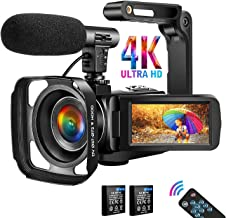 دوربین فیلمبرداری دوربین فیلمبرداری 4K دیجیتال YouTube Vlogging ، دوربین 30M 18X دوربین دیجیتال زوم دیجیتال 3 در دوربین لمسی با لرزشگیر میکروفون