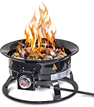 Outland Firebowl 893 Deluxe Outdoor Portable Propane Gas Fire Pit with Cover & Carry Kit, 19-Inch Diameter 58,000 BTU