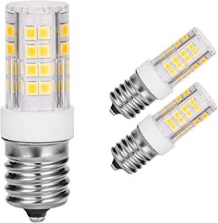Microwave Oven Appliance 4W E17 LED Bulb (40W Halogen Bulb Equivalent) Non-Dimmable Daylight White Ceramic Body Microwave Oven Light Bulb (Pack of 2)