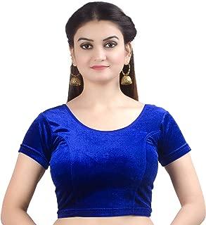 royal blue velvet choli