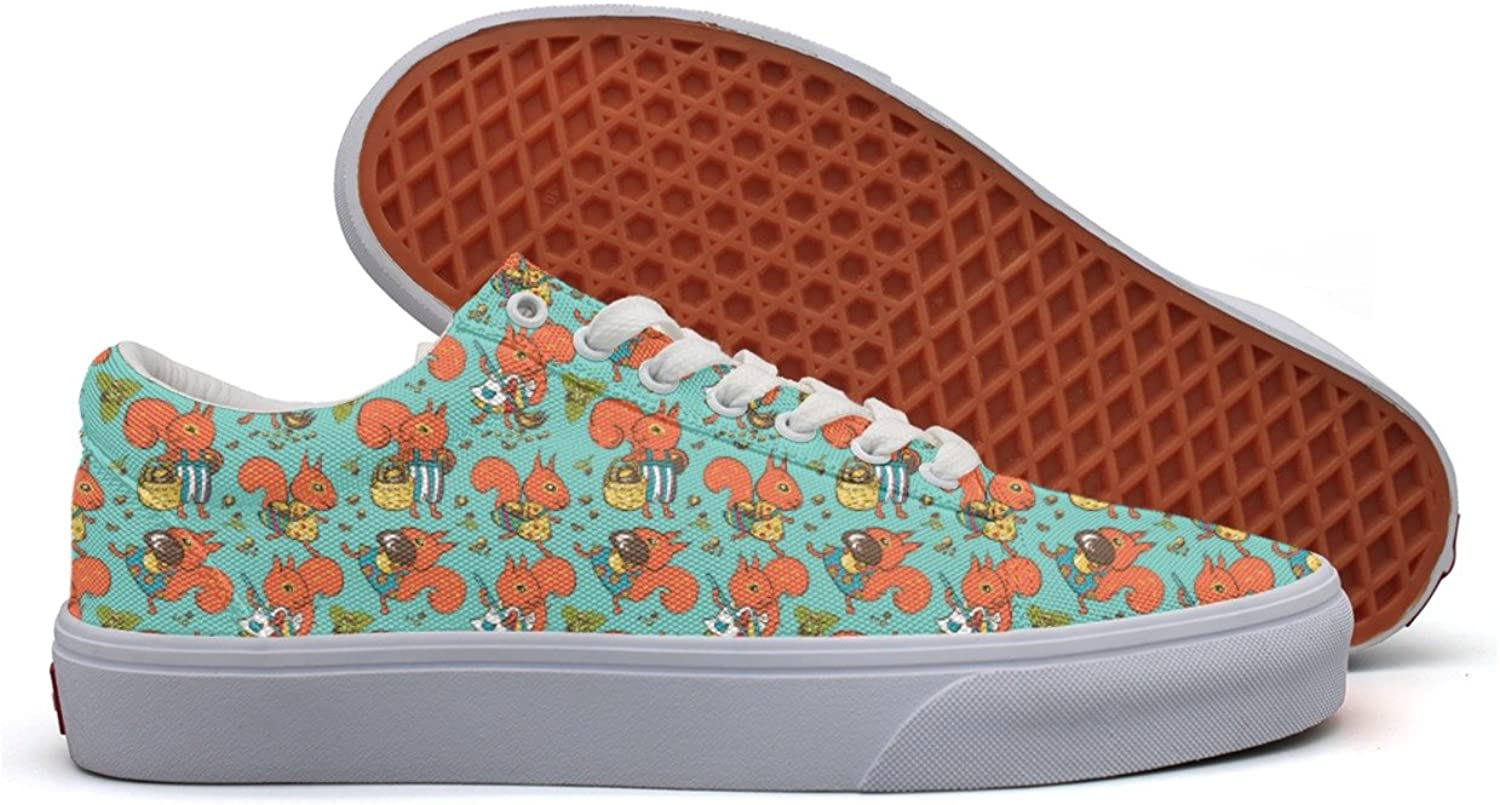 The Hard - Working Squirrels Women's Casual Sneakers Canvas Lo-Top Cute Original