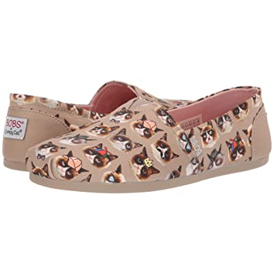 BOBS from SKECHERS Bobs Plush Party Pooper (Taupe Multi) Women