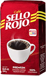 Colombian Coffee Sello Rojo- Ground Coffee- #1 Coffee Brand in Colombia-8.8 Oz Brick