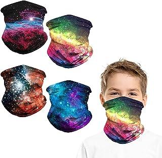 4PCS Kids Neck Gaiter Face Mask Bandana Boys Girls...