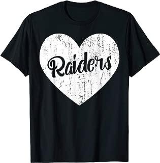 Raiders School Sports Fan Team Spirit Mascot Cute Heart Gift T-Shirt