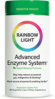 Rainbow Light Advanced Enzyme System, Digestive Support - 180 Capsules (Package May Vary)