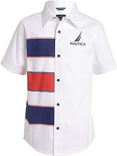 Nautica Boys' Short Sleeve Printed Woven Tee