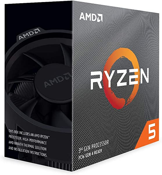AMD Ryzen 5 3600 6 Core 12 Thread Unlocked Desktop Processor With Wraith Stealth Cooler