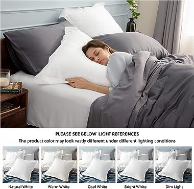 Bedsure Euro Pillow Sham Covers 26x26 Set of 2, Super Soft and Cozy White European Pillow Shams, Brushed Microfiber Euro Sham