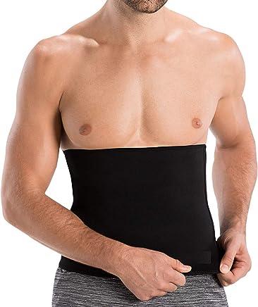 ADA Unisex Neotex Neoprene Hot Body Slim Shaper Slimming 3 mm Tummy Trimmer Belt (Black)
