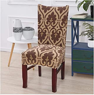 Wedding Chair Covers Spandex Elastic Leaves Printed Chair Slipcovers Dining Room Washable Fully Wrapped Seat Cover,Color 7,1 Piece