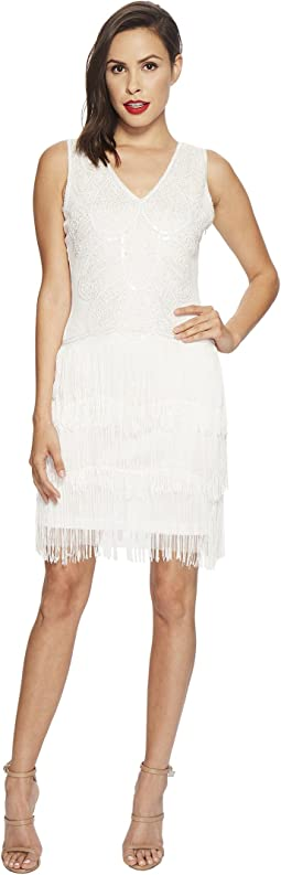 Unique Vintage - Tiered Fringe Emile Flapper Dress