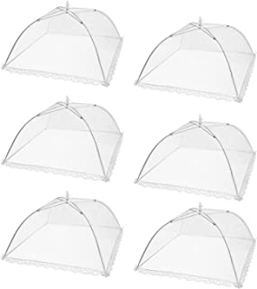 HabiLife 6 pack Large Pop-Up Mesh Food Cover Tent,17 Inches Food Protector Covers  Reusable and Collapsible Outdoor Picnic Food Covers Tent For Bugs, Parties Picnics, BBQs
