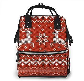 Luiertas Rugzak, JOJOshop Cristmas Ornament Sweater met herten grote multifunctionele Travel Back Pack, grote capaciteit, ...