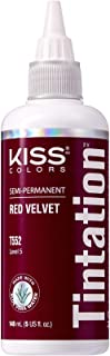 Kiss Tintation Semi-Permanent Hair Color 5 Ounce, T552 Red Velvet