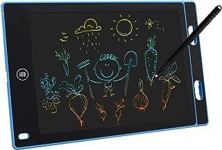 LCD Schreibtafel 21,6 cm / 30,5 cm buntes Doodle Board, Zeichentablett, tragbar, wiederverwendbar, Schreibblock, pädagogisches Weihnachtsspielzeug für Jungen (21,6 cm, blau)