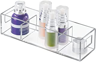 InterDesign Luci Bathroom Vanity Cabinet Organizer for Cosmetics, Beauty Products, Clear