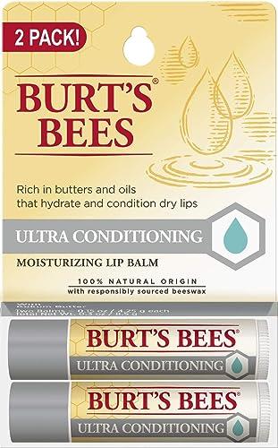 Burt's Bees 100% Natural Moisturizing Lip Balm, Ultra Conditioning with Kokum Butter, Shea Butter & Cocoa Butter - 2 ...