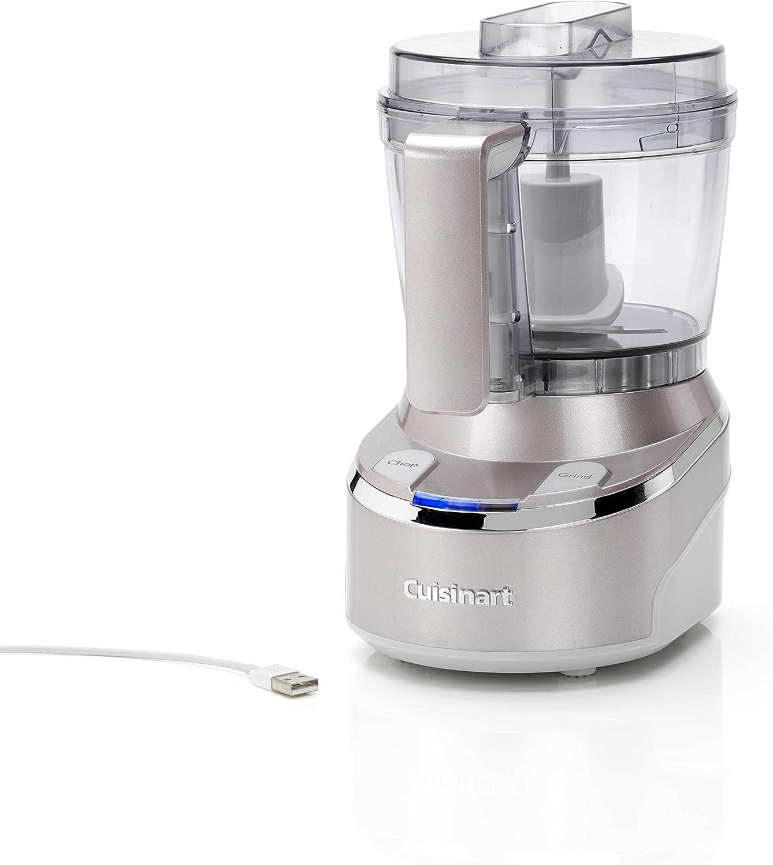 Cuisinart Mini Prep Pro Minipicadora inalámbrica con capacidad de 900 ml, Acero Inoxidable, 2 Velocidades, Gris