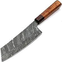 Couteau de cuisine en acier damas artisanal avec gaine en cuir de qualité supérieure pour professionnels 9283