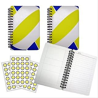 バレーボールノート(青・黄)【A6サイズ】作戦ノート3冊+シール3枚セット プライム