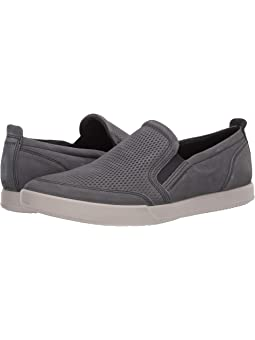 Ecco collin perforated slip on + FREE
