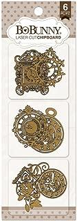 Bo Bunny BBC-15867 Timepiece Laser-Cut Chipboard, 3.5 x 9