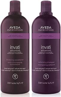 Aveda Invati Exfoliating Shampoo 33.8 oz & Thickening Conditioner 33.8 oz Duo